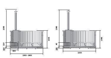 badefass ofen d190cm wohnstattadel. Black Bedroom Furniture Sets. Home Design Ideas